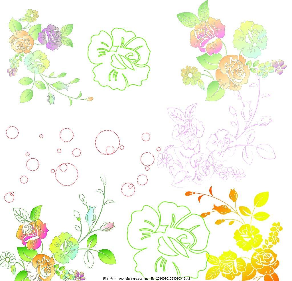 花 底纹 边框 树叶 韩国花纹 花朵 时尚花纹 梅花 浪漫 线条 种子