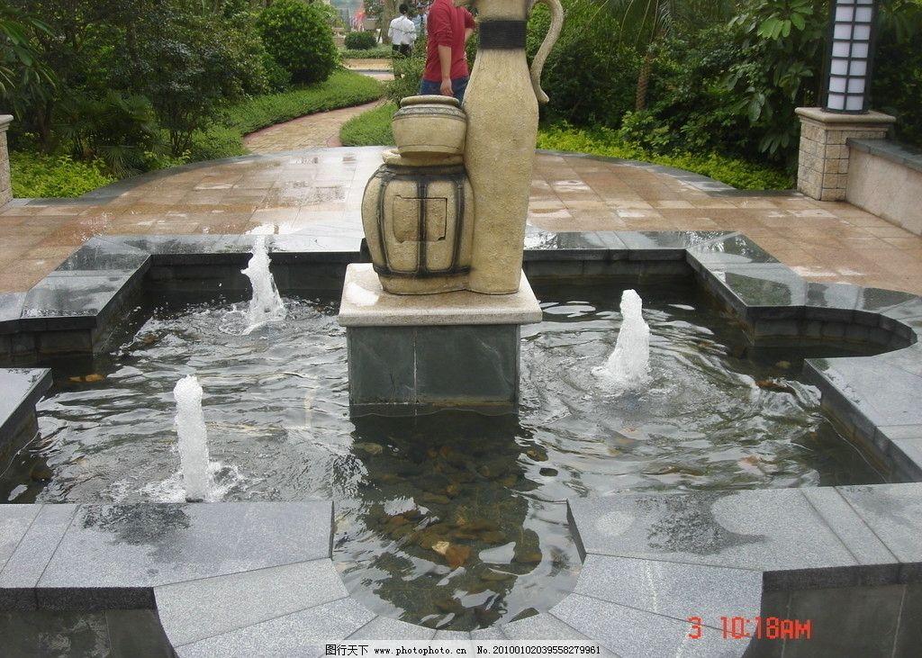 别墅区喷水池 小区设计 房地产设计 景观设计 喷泉 雕塑 大理石