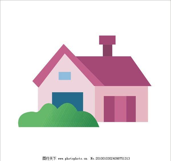 房屋 灯光 屋顶 草地 草坪 房子 建筑 自然风景 自然景观 矢量 cdr