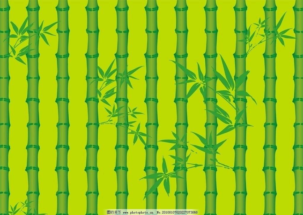 绿色竹子 竹叶 底纹背景 底纹边框 矢量 cdr