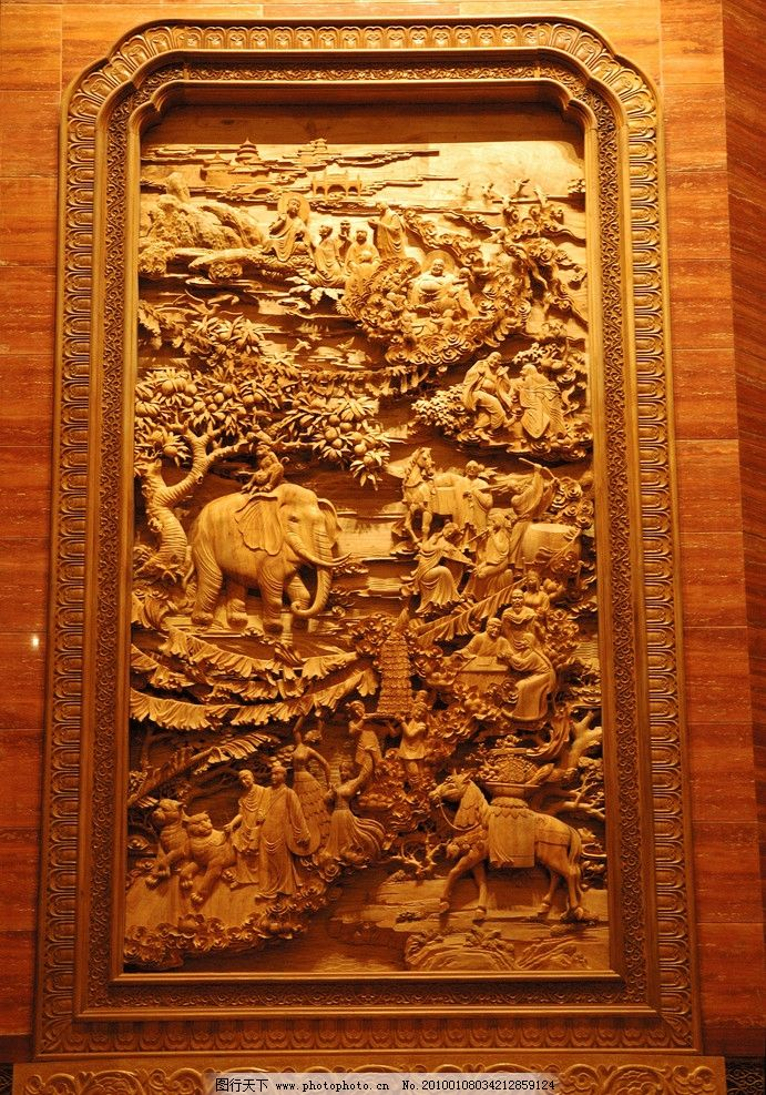 墙上大型木雕 灵山 大佛 灵山大佛 梵宫 木雕 灵山圣景三期 人文景观