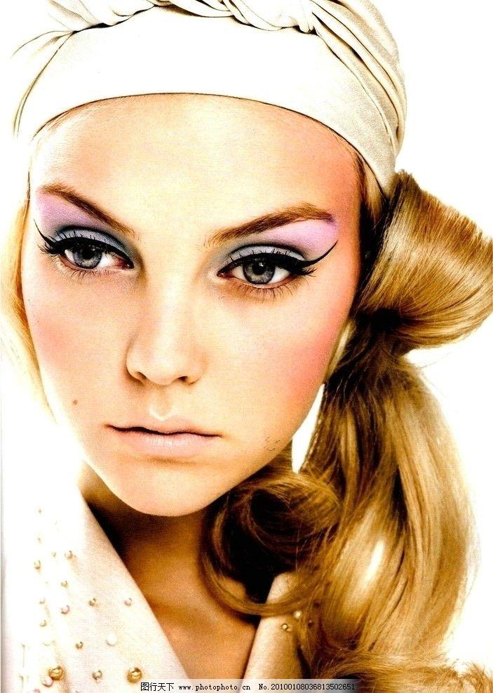 彩妆美女图片