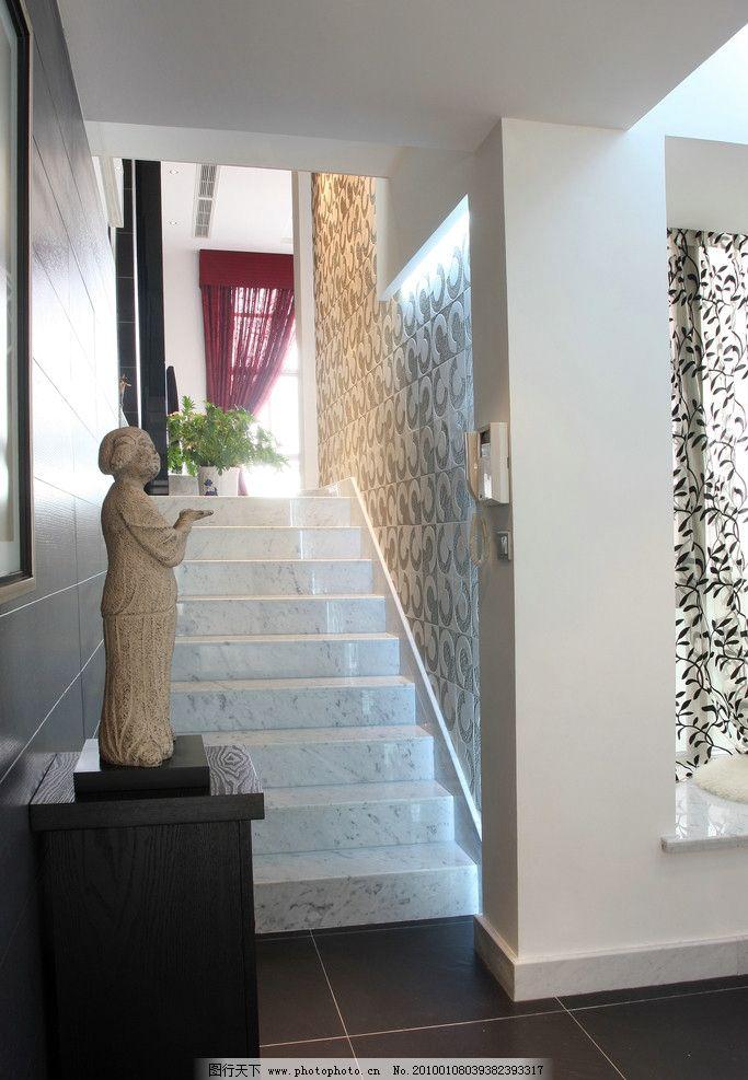 室内设计实景照片资料 室内 楼梯 现代 雕塑 设计 实景 室内摄影 建筑