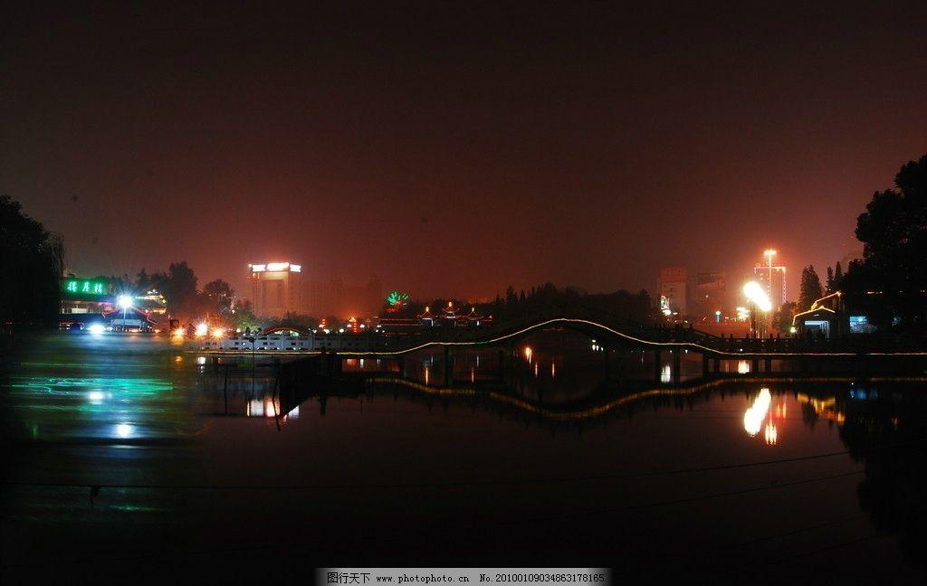 娄星广场公园夜景图 公园夜景 娄星广场 长廊夜景 自然风景 自然景观
