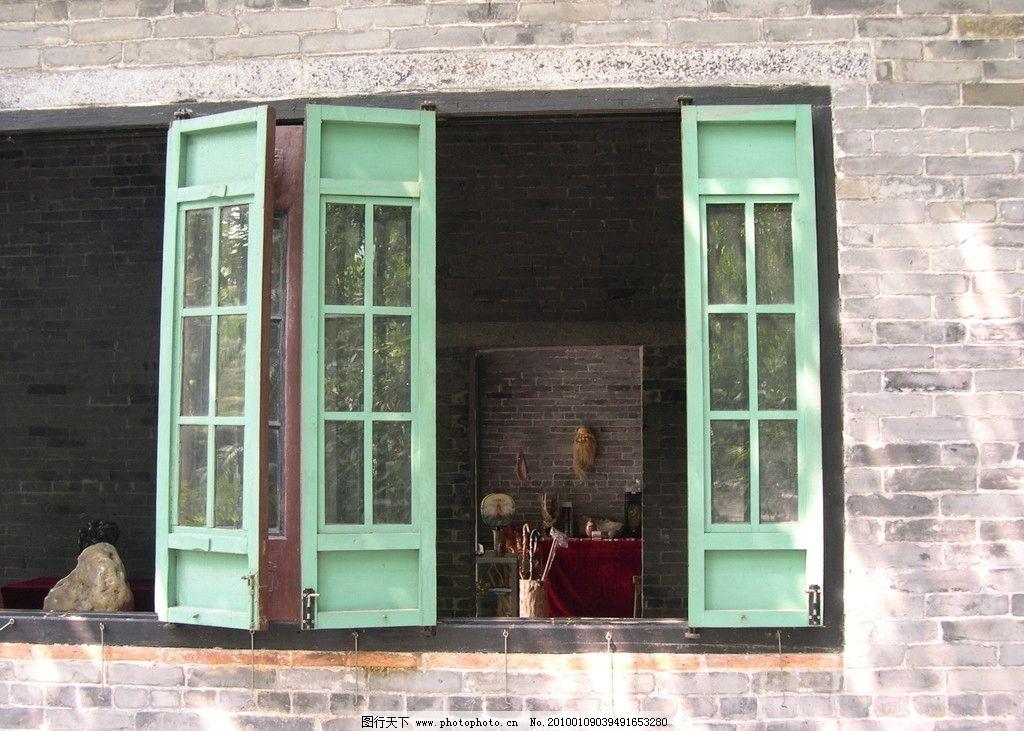 园林建筑窗户 窗户 古代 砖墙 建筑 木窗 中国古建筑 建筑摄影 建筑