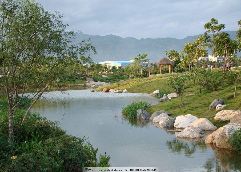 风景 云南 蒙自 人工河 小河流水 园林建筑 建筑园林 摄影