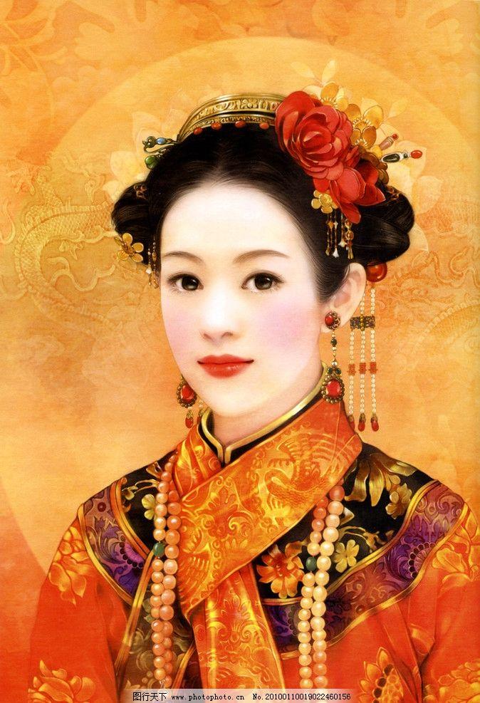 古典 美女图片,古代 美人 清代 宫廷 服饰 唯美-图行