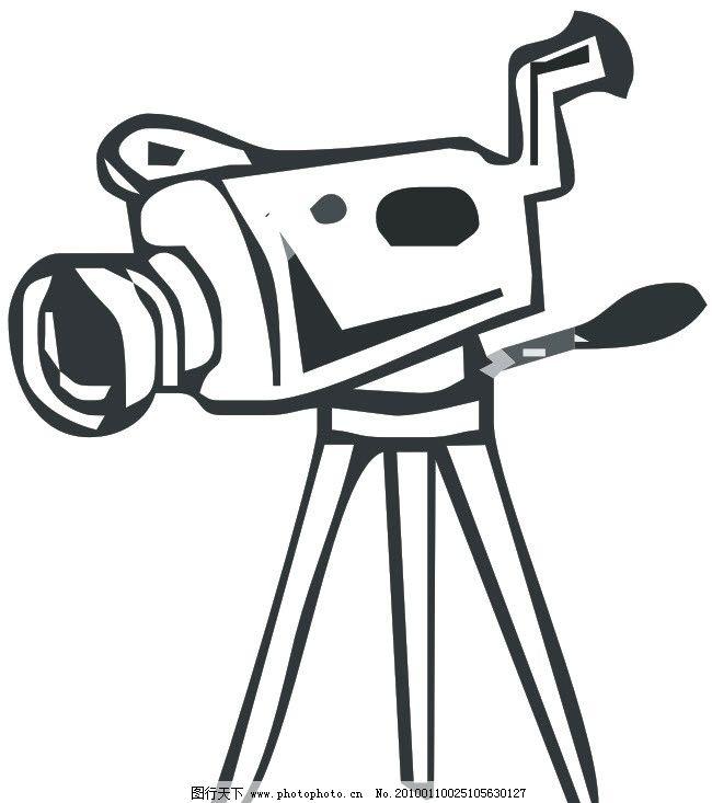 摄影机形象创意矢量图 摄像机 dvc 形象 创意 矢量 现代科技 通讯科技