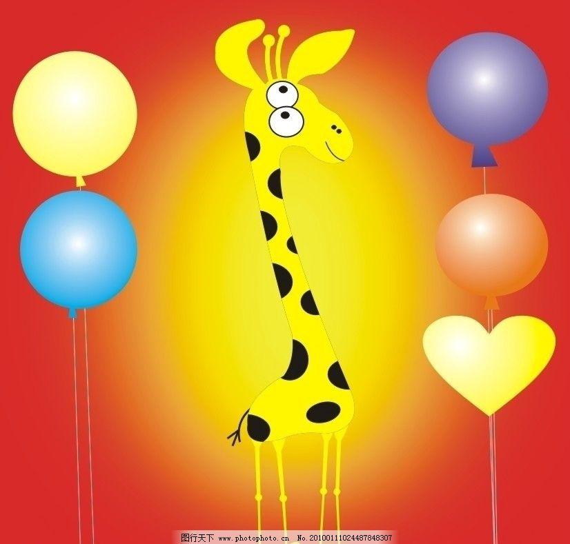 小鹿宝宝 梅花鹿 卡通 趣味 长颈鹿 可爱 小动物 野生动物 生物世界