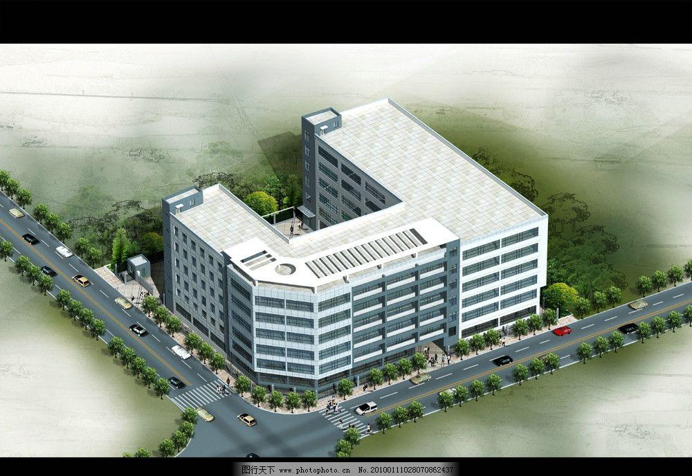 厂区方案鸟瞰图图片_建筑设计_环境设计_图行天下图库