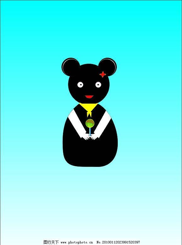 手绘可爱小熊猫图片