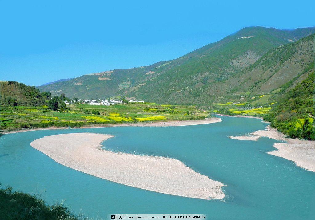 湖泊 湖水 山水 蓝天 农作物 山水风景 自然景观 摄影
