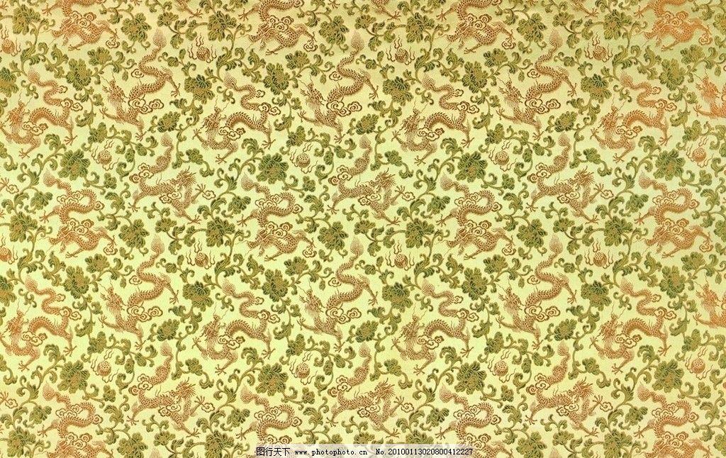 中国龙布料背景(黄) 龙纹 中国龙 龙 花纹布 布料 绸缎 材质 其他素材
