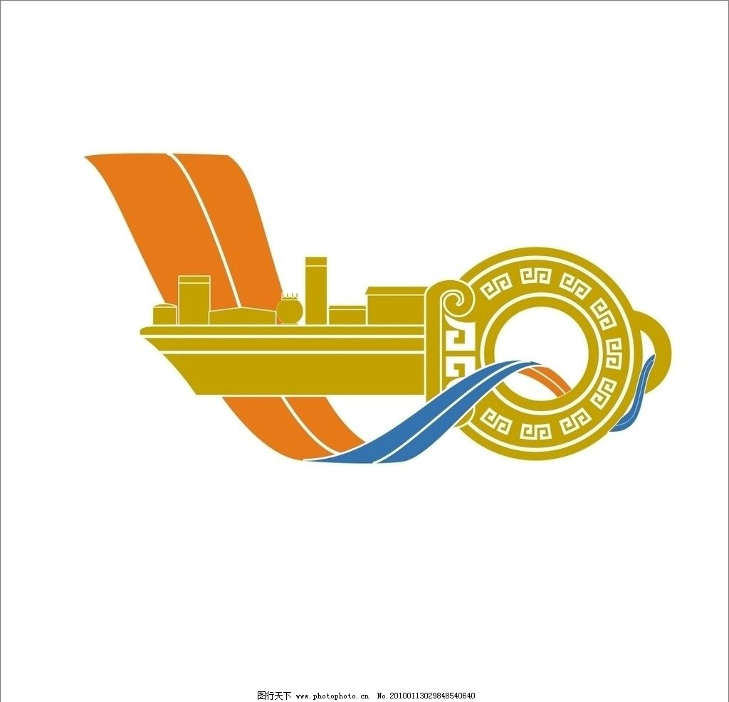 港口金钥匙 金钥匙 港口 彩带 vi设计 广告设计 矢量 cdr