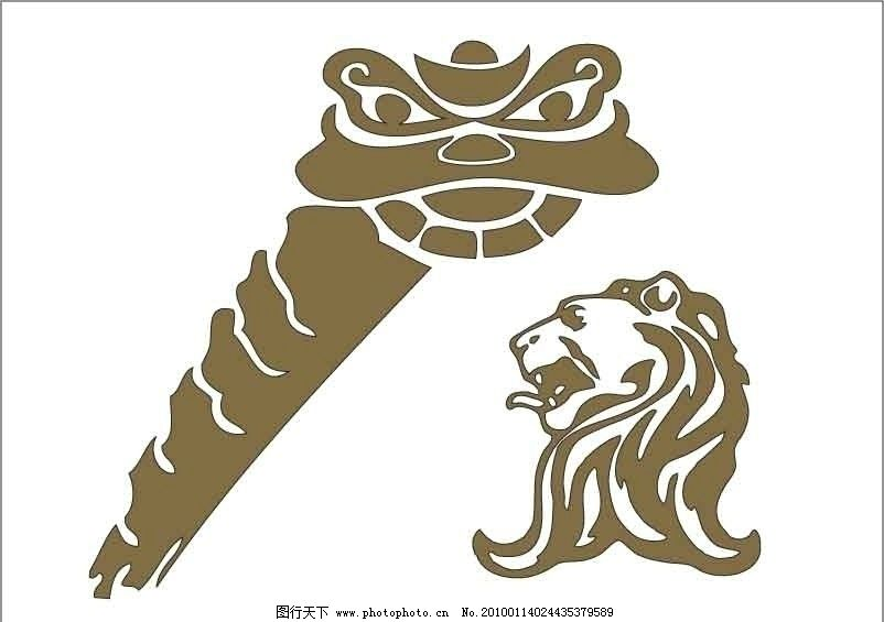 矢量 狮子头 舞狮图片