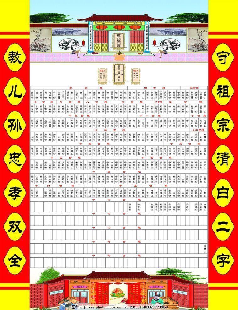祖先簇 家族谱图片