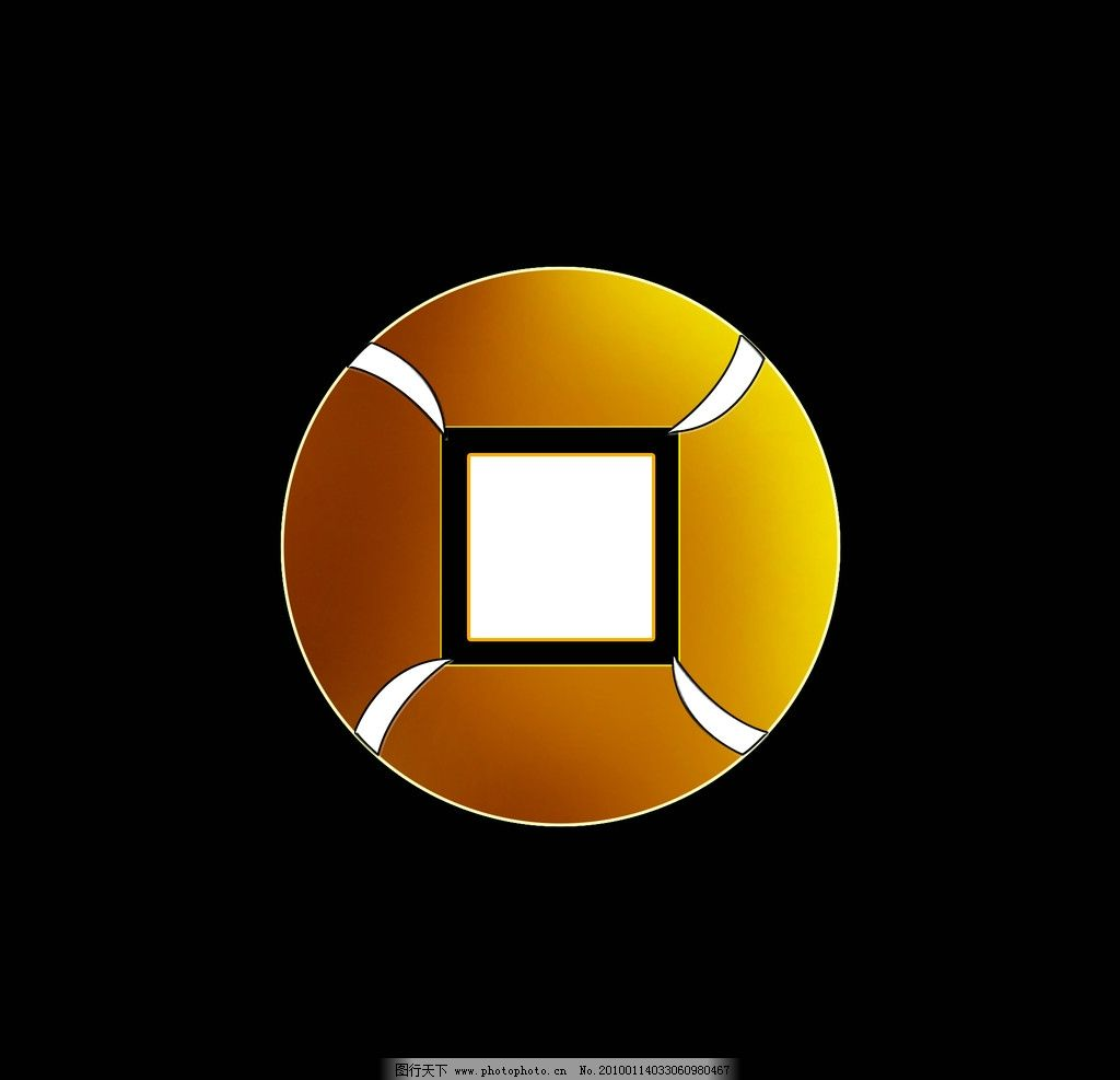 标志 logo 方圆 铜钱 psd分层素材 源文件 96dpi psd