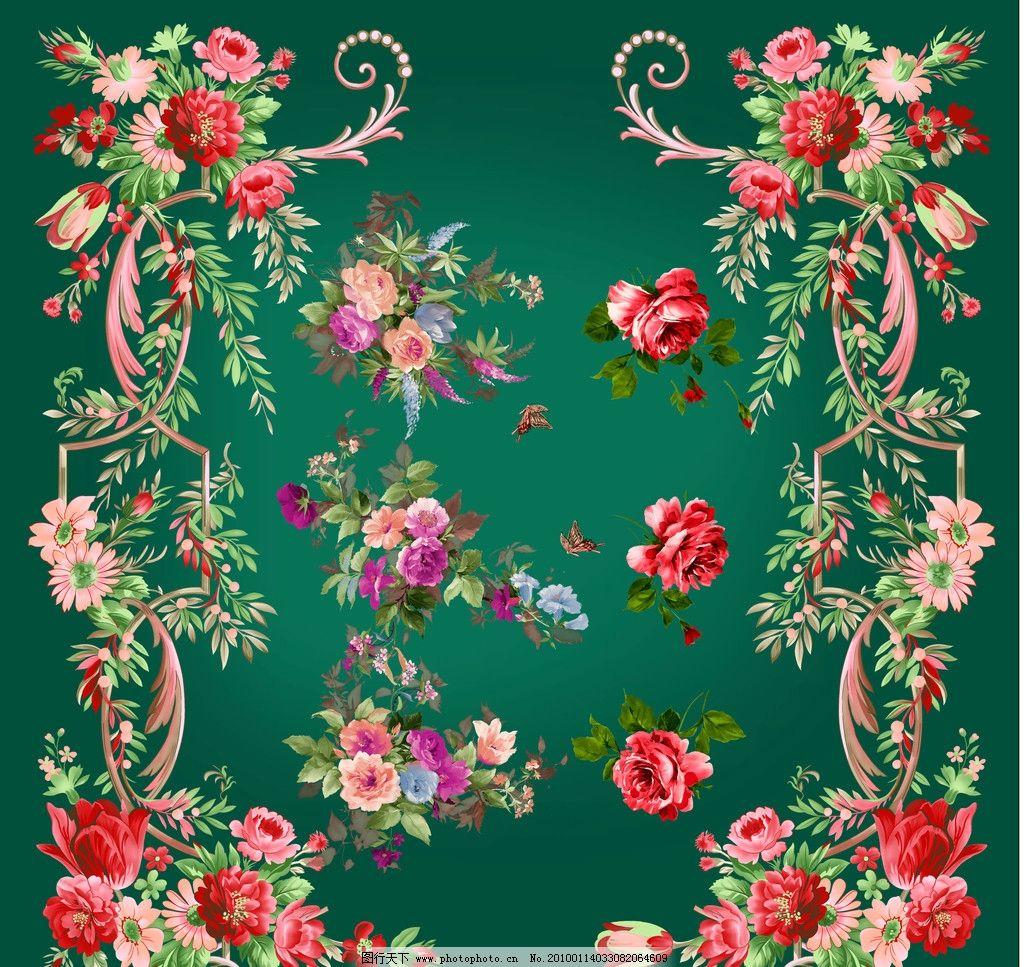 卉花纹2 蒲公英 玫瑰 百合花 爱丽斯花 天堂鸟花 水仙花语 向日葵花