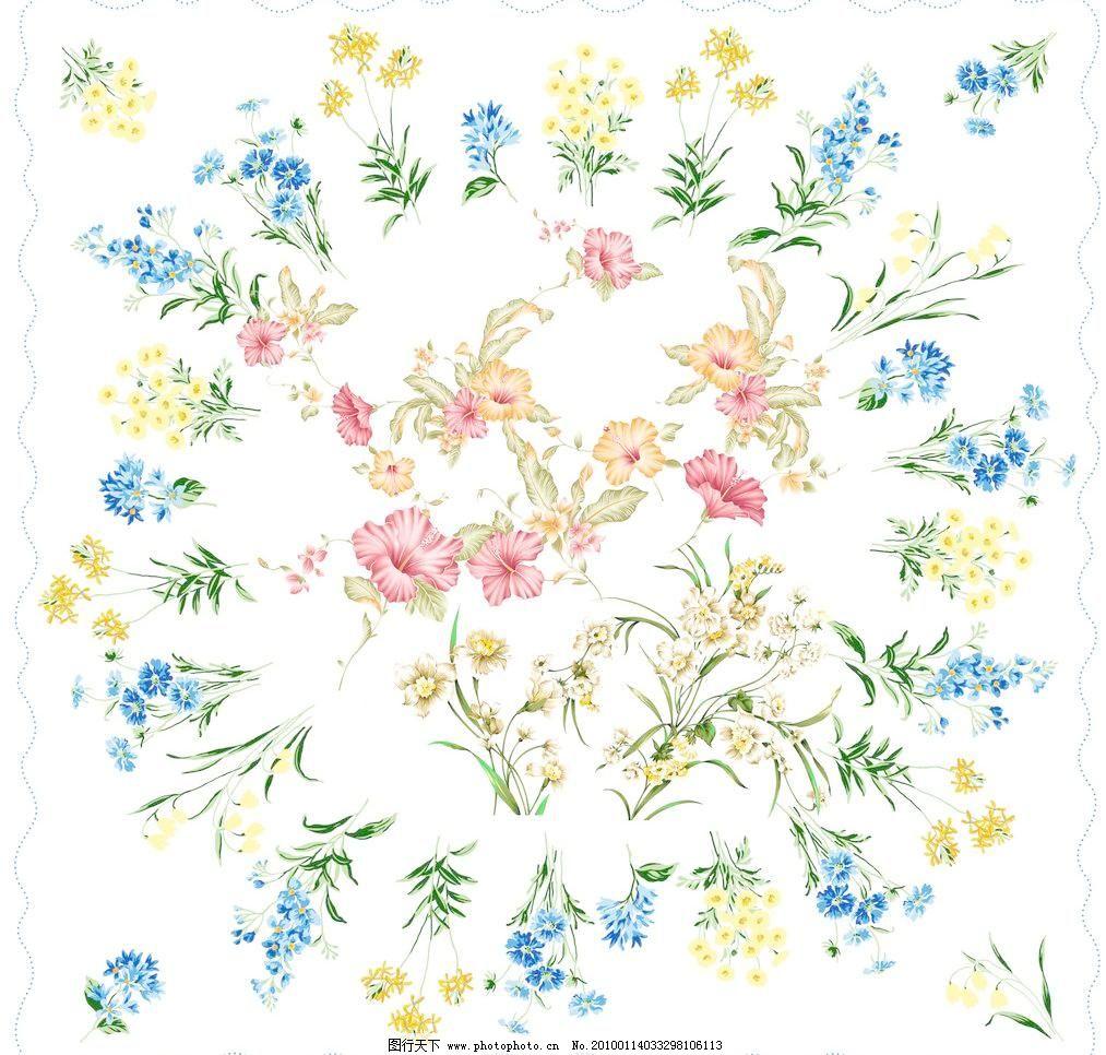 卉花纹 百合花 雏菊花 丁香花 桂花 荷花 玫瑰 卉花纹素材下载