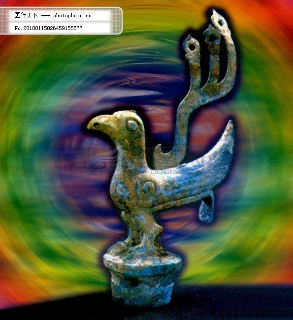 游戏青铜雕花背景图