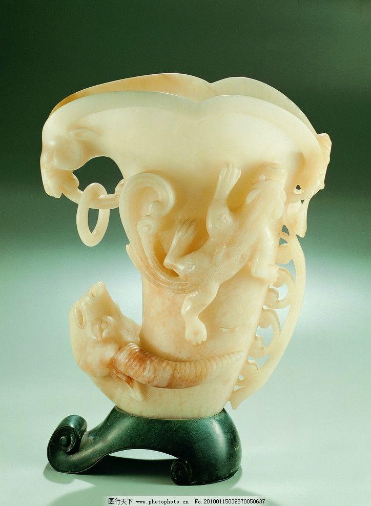 玉雕 工艺美术 雕刻工艺 雕塑艺术 玉石雕刻 树图案 动物图案