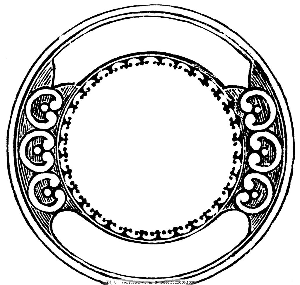 欧式华丽复古图腾外框 圆形图片_花边花纹_底纹边框