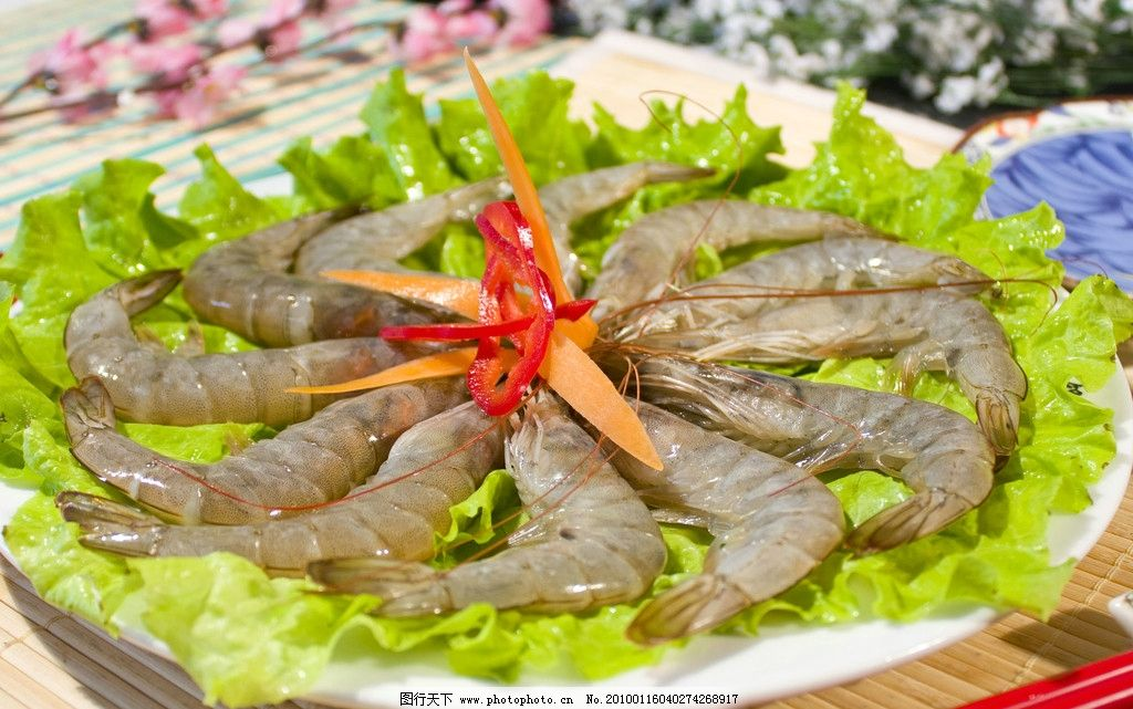 基围虾 虾 大虾 涮品 涮虾 火锅涮品 海鲜 传统美食 餐饮美食 摄影 24图片