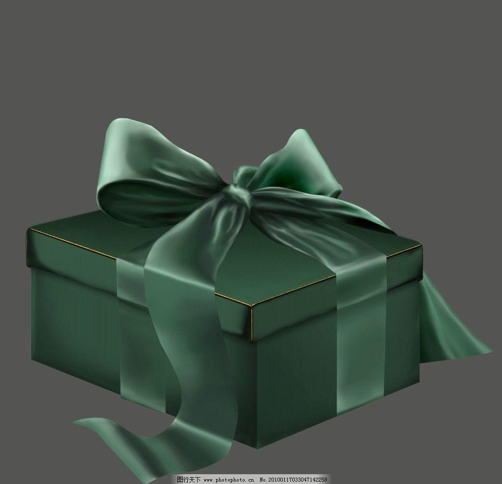 古典礼盒 欧式 绿色 源文件