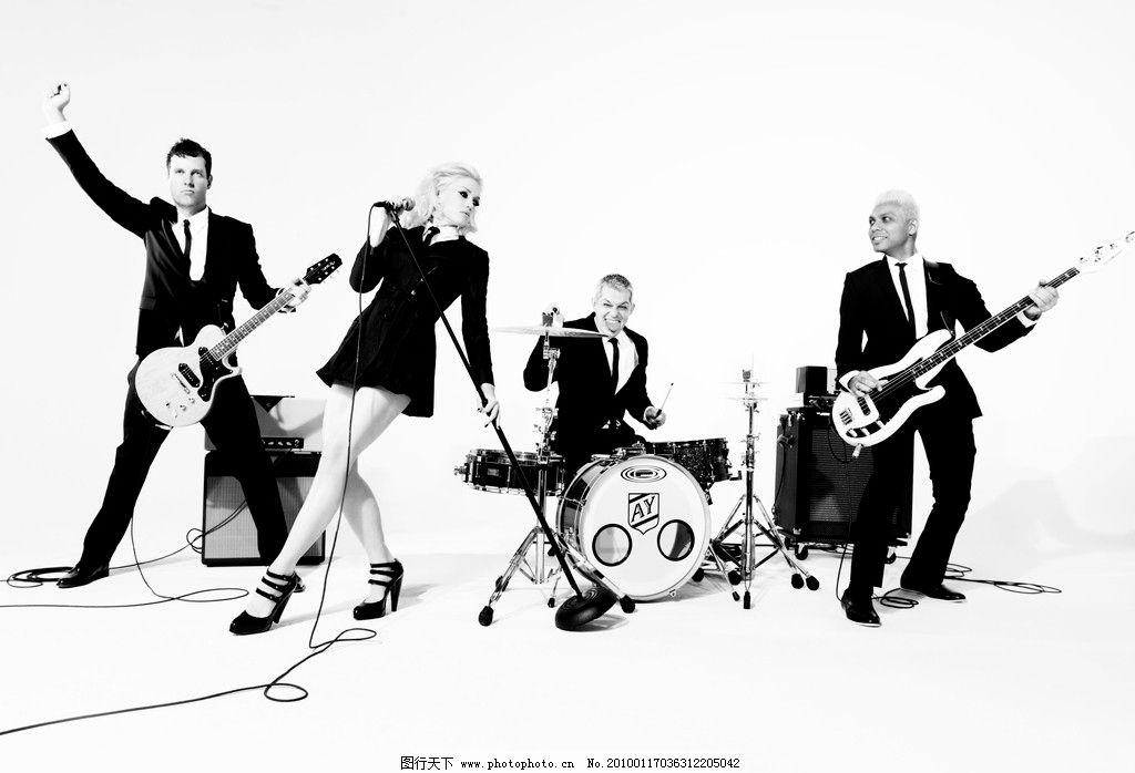 乐队 明星 偶像 团体 吉他 架子鼓 摄影