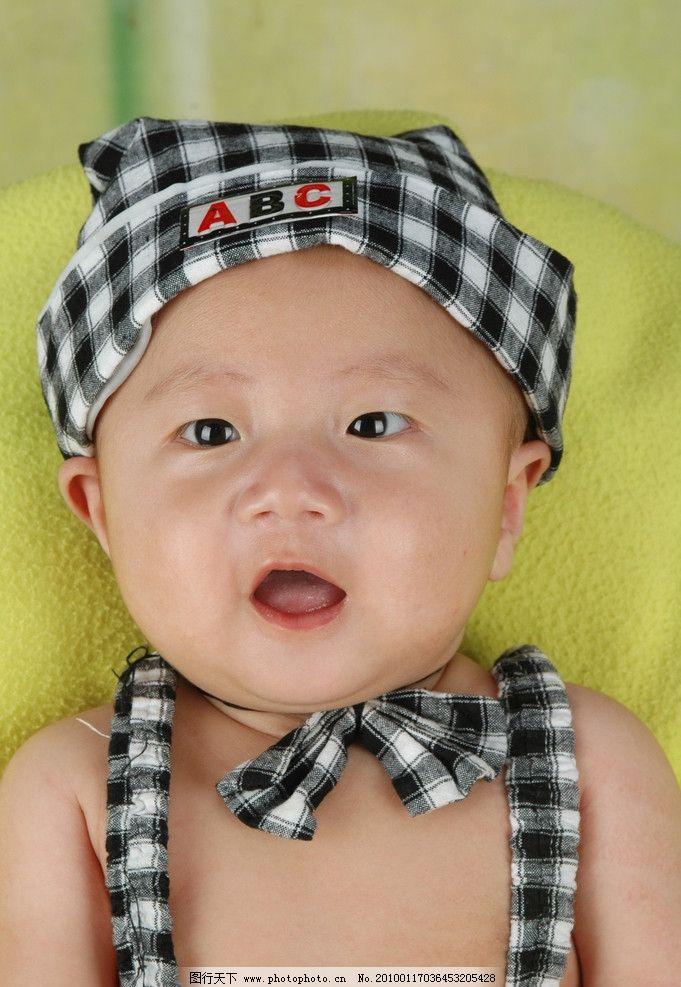 可爱宝宝 时尚宝贝 漂亮宝宝 戴帽子的宝贝 儿童幼儿 人物图库