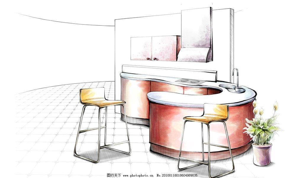手绘家居 手绘室内家居 手绘 室内 家居 室内设计 动漫 卡通 家居设计