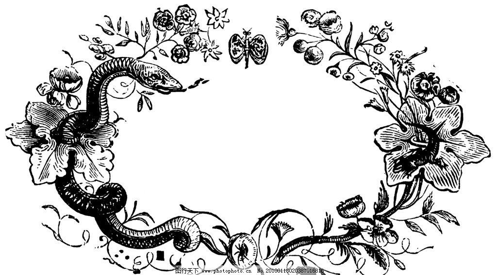 欧式华丽复古图腾外框高清大图 花叶图片