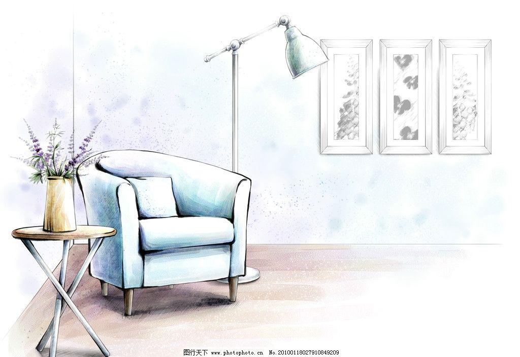 手绘 室内图片_室内设计_环境设计_图行天下图库