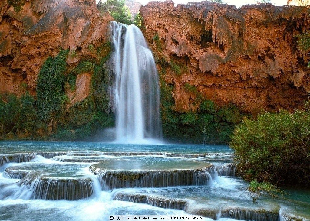 瀑布自然景观 艺术图片 山水风景 自然景观 摄影 72dpi jpg