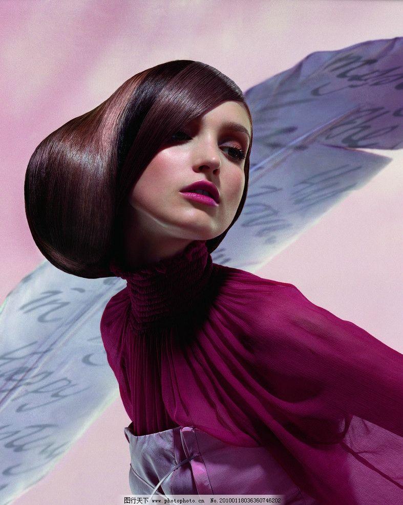 发型美发 发型艺术 气质 染色 人物摄影 人物图库图片