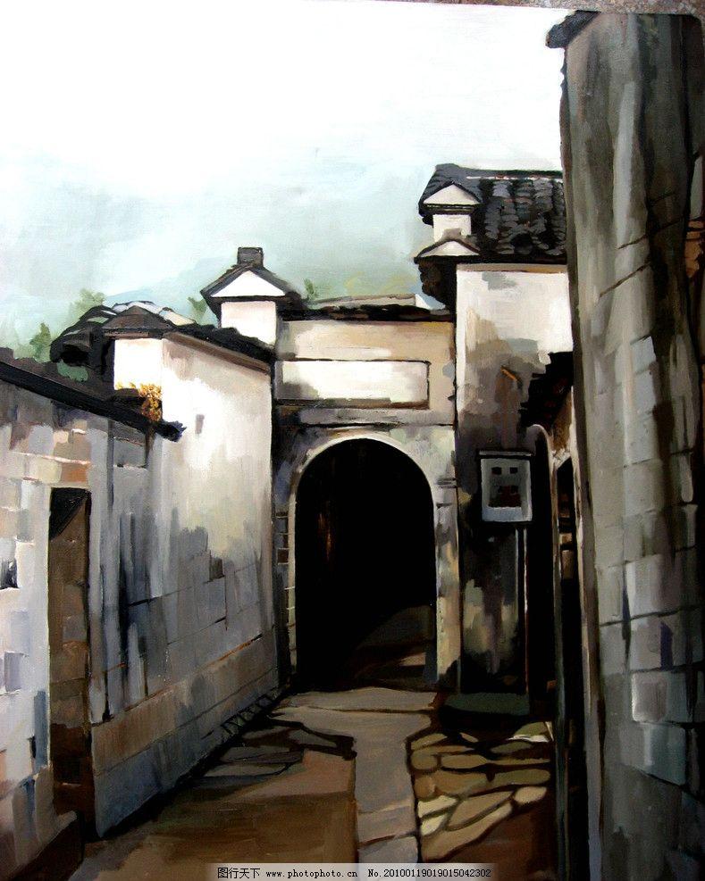 江南民居 江南 水乡 绘画 古典 传统纹样 建筑 山水 写意 梦回江南