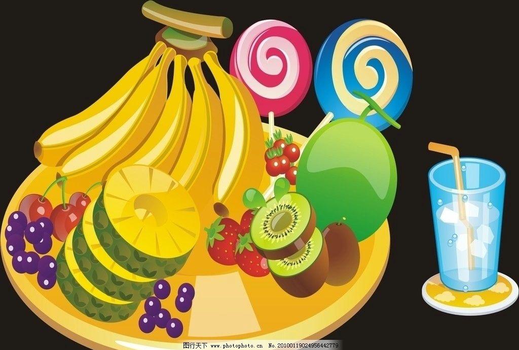 精致cdr水果拼盤圖片