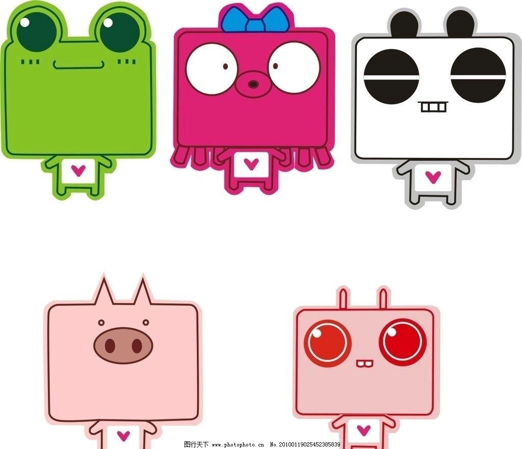 可爱卡通矢量 矢量卡通图 青蛙 章鱼 熊猫 猪 兔子 可爱 粉红 其他