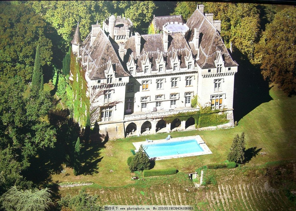 古堡 欧式建筑 外国建筑 欧式 城堡 庄园 豪宅 别墅 风光 游泳池 建筑