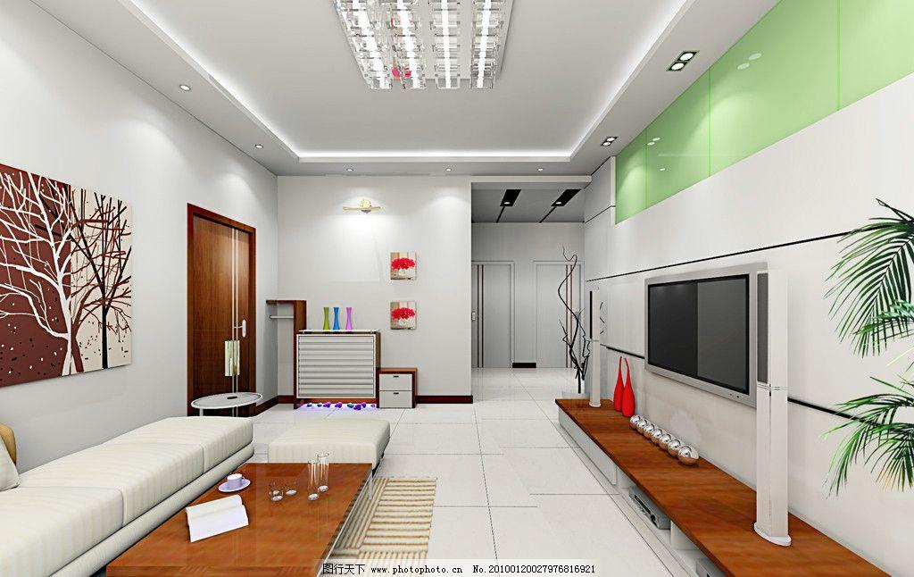 室內效果圖 客廳效果圖電視背景天花頂設計 室內設計 環境設計 設計