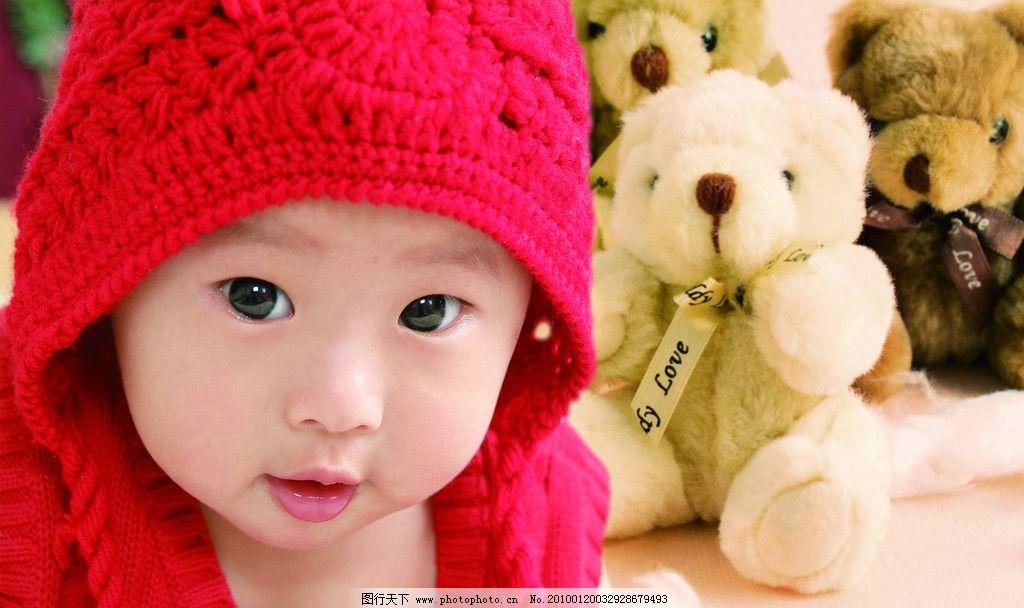 韩国宝宝摄影 儿童 小熊 背景 摄影 可爱宝宝 背景素材 psd分层素材