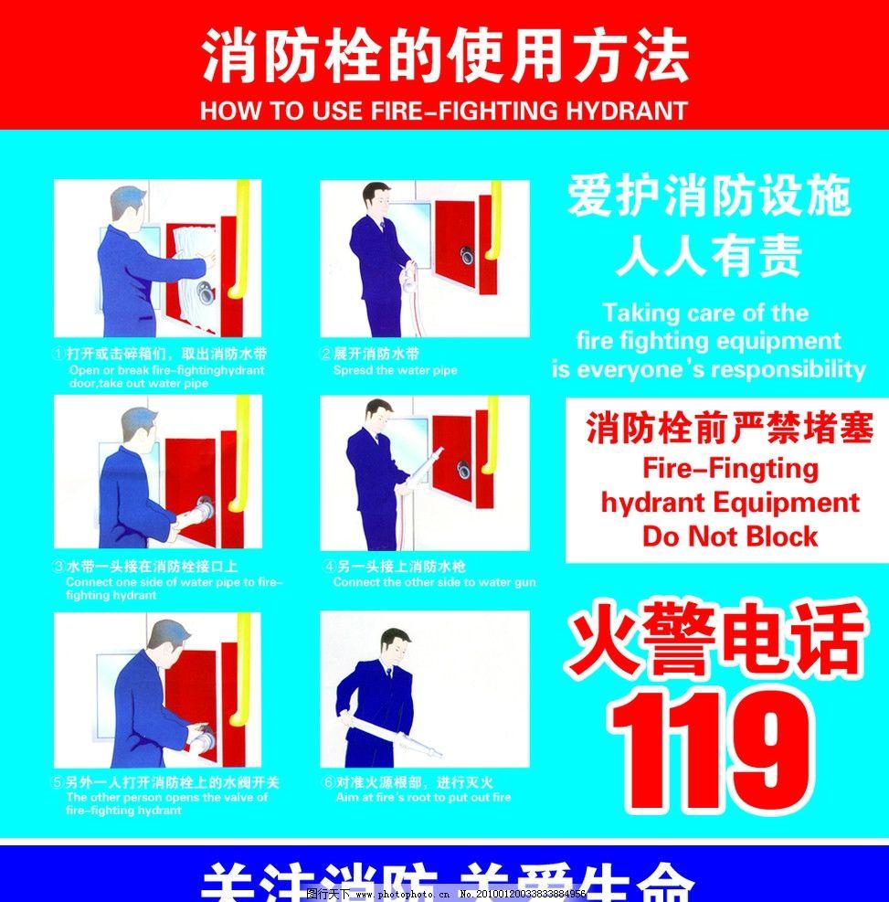 消防栓的使用方法图片
