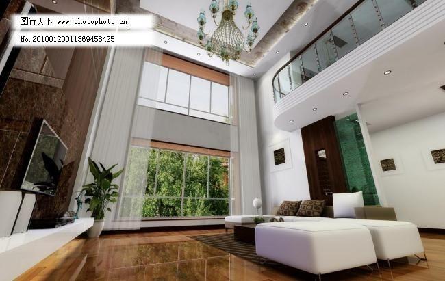 吊燈 環境設計 客廳效果圖 落地窗 沙發 設計 室內設計 復式別墅客廳