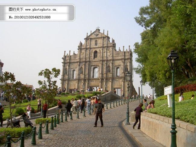 欧洲风情 欧洲古典 欧洲建筑 澳门 澳门标志 大三巴 教堂 教堂风景
