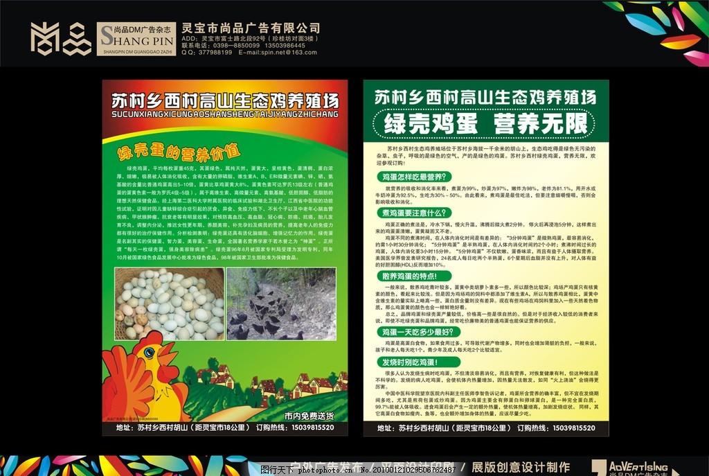 养鸡dm 彩页 宣传单 养殖 平面设计 印刷 尚品 矢量
