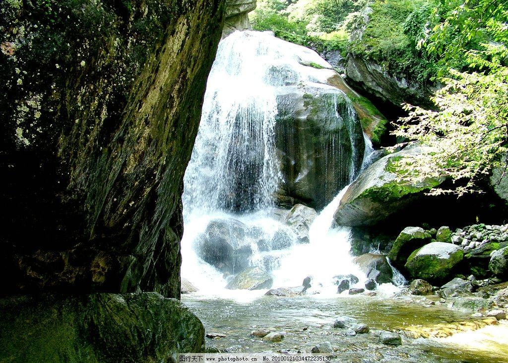 太白山风光 陕西省 秦岭 瀑布 山水风景 自然景观 摄影