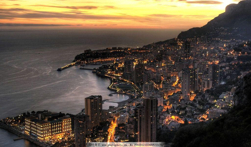 大气城市 城市 夜景 俯视 大气 海景 海湾 自然风景 自然景观 摄影 28