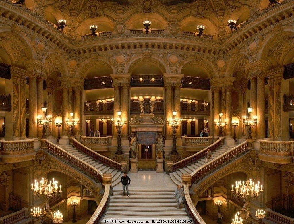 楼梯 烛光 欧式建筑图片