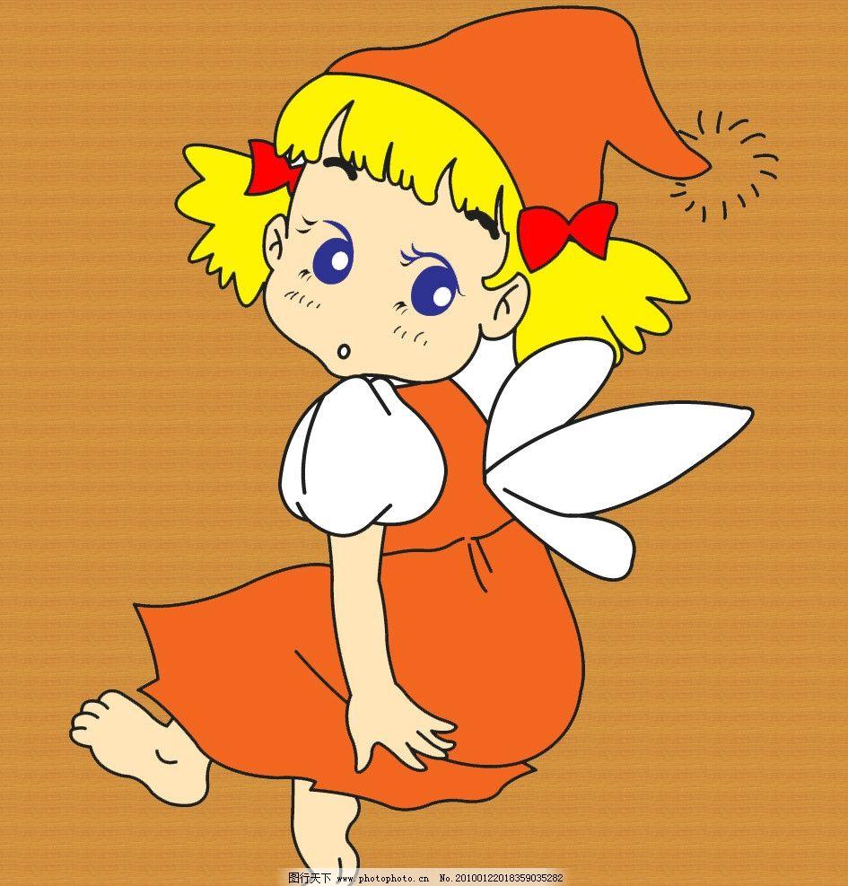 小女孩图片卡通天使