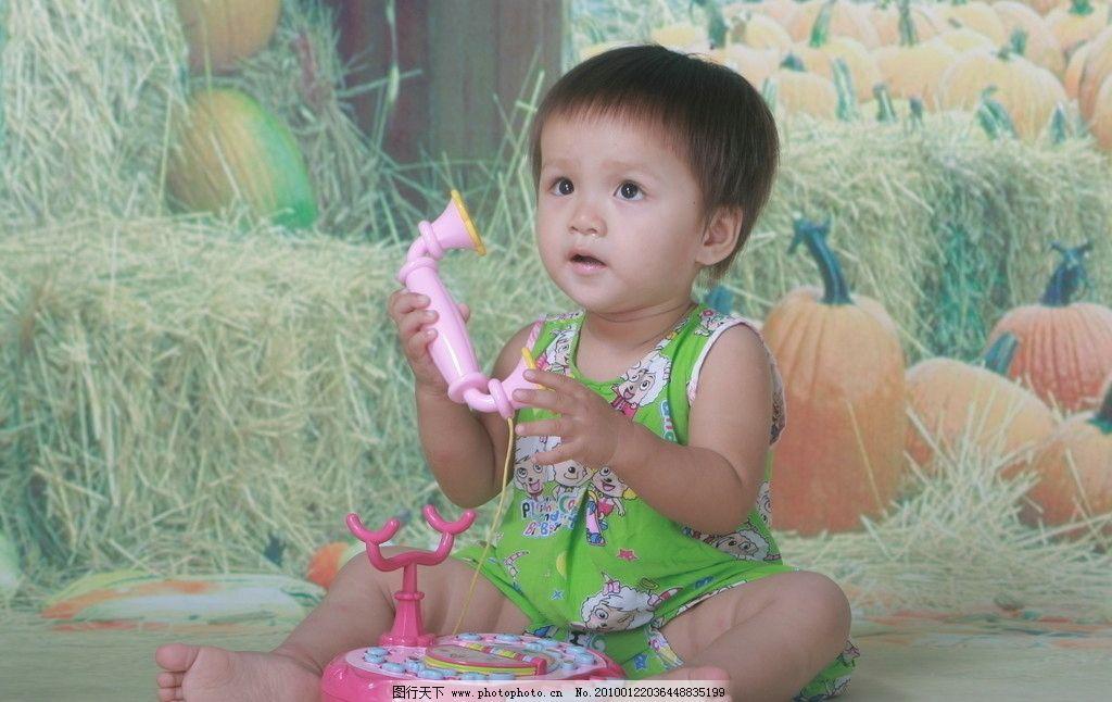 玩玩具的儿童 打电话的儿童 儿童幼儿 摄影